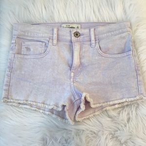 Abercrombie Kids High Waisted Jean Shorts